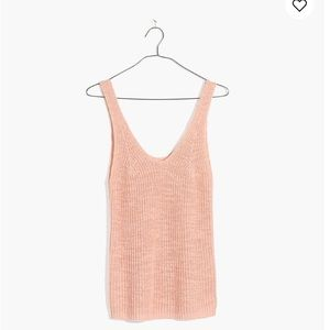 NWT Madewell Monterey Sweater Tank, M, Lucid Pink